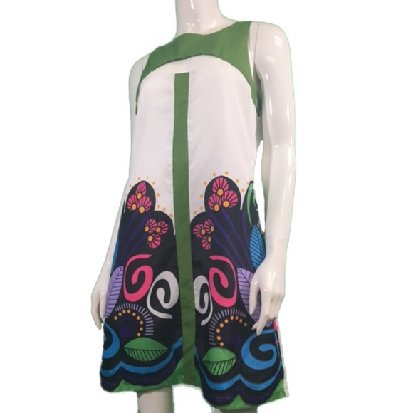 NWT Young Threads Green/White Sundress (1145)
